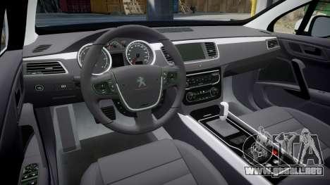 Peugeot 508 Republic of Srpska [ELS] para GTA 4 vista interior