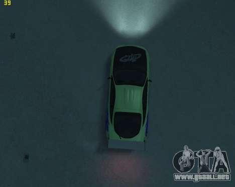 Mitsubishi Eclipse from Fast and Furious para GTA 4 vista interior