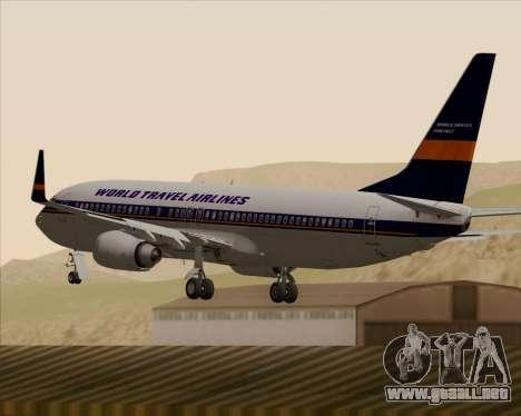 Boeing 737-800 World Travel Airlines (WTA) para vista inferior GTA San Andreas