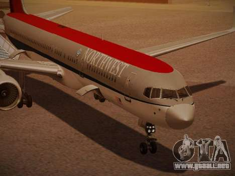 Boeing 757-251 Northwest Airlines para vista inferior GTA San Andreas
