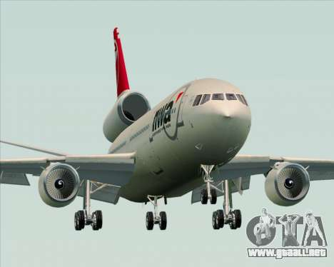 McDonnell Douglas DC-10-30 Northwest Airlines para vista lateral GTA San Andreas