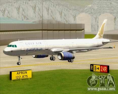 Airbus A321-200 Gulf Air para vista inferior GTA San Andreas