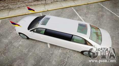 Audi A8 Limousine para GTA 4 visión correcta