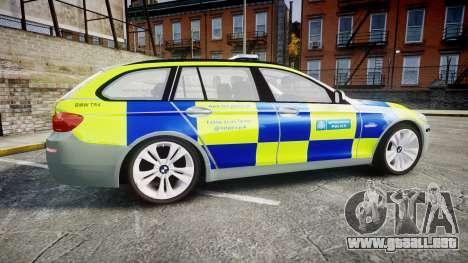 BMW 530d F11 Metropolitan Police [ELS] para GTA 4 left