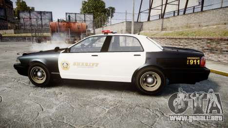 GTA V Vapid Cruiser LSS Black [ELS] para GTA 4 left