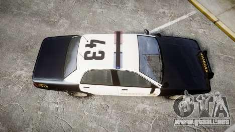 GTA V Vapid Cruiser LSS Black [ELS] para GTA 4 visión correcta