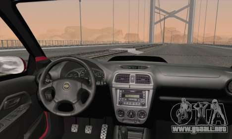 Subaru Impreza Wagon 2002 para GTA San Andreas vista posterior izquierda