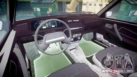 VAZ-2109 1500 i para GTA 4 vista interior