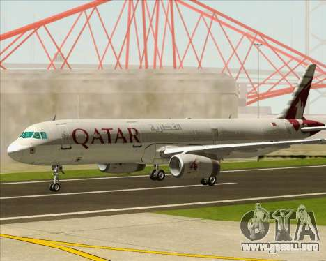 Airbus A321-200 Qatar Airways para visión interna GTA San Andreas