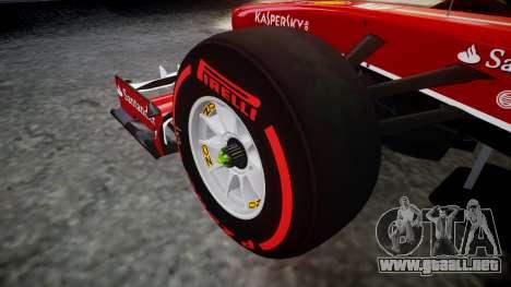 Ferrari F138 v2.0 [RIV] Massa TSSD para GTA 4 vista hacia atrás