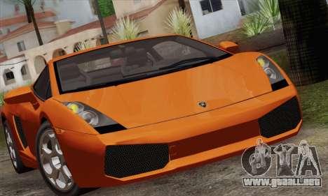 Lamborghini Gallardo 2005 para la visión correcta GTA San Andreas