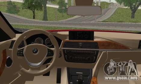 BMW 3 Series F30 2013 para GTA San Andreas vista posterior izquierda