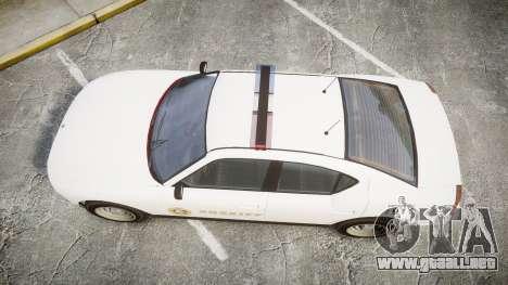 GTA V Bravado Police Buffalo [ELS] para GTA 4 visión correcta