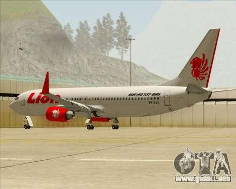 Boeing 737-800 Lion Air para las ruedas de GTA San Andreas