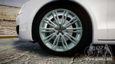 Audi A8 Limousine para GTA 4 vista hacia atrás