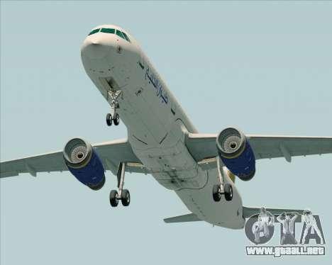 Airbus A321-200 Gulf Air para la visión correcta GTA San Andreas