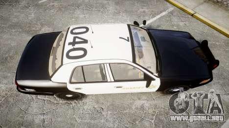 Ford Crown Victoria LASD [ELS] Slicktop para GTA 4 visión correcta