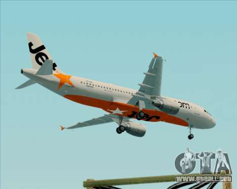 Airbus A320-200 Jetstar Airways para vista lateral GTA San Andreas