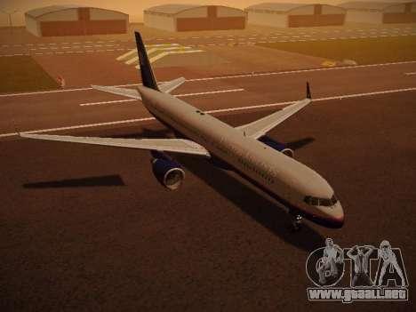 Boeing 757-224 United Airlines para GTA San Andreas interior