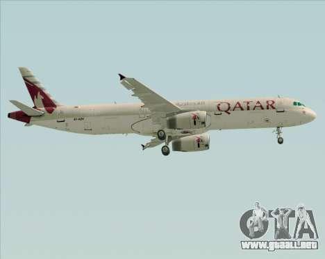 Airbus A321-200 Qatar Airways para las ruedas de GTA San Andreas