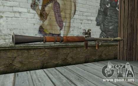 РПГ-7В de Battlefield: Vietnam para GTA San Andreas segunda pantalla