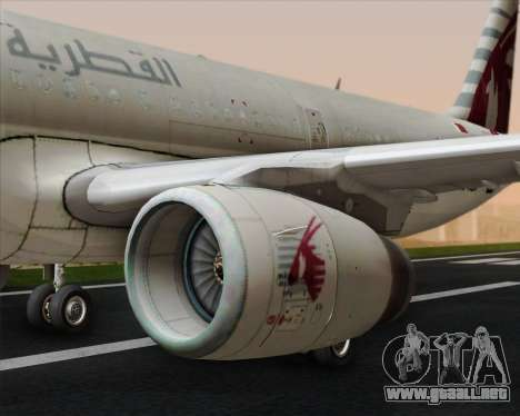 Airbus A321-200 Qatar Airways para el motor de GTA San Andreas