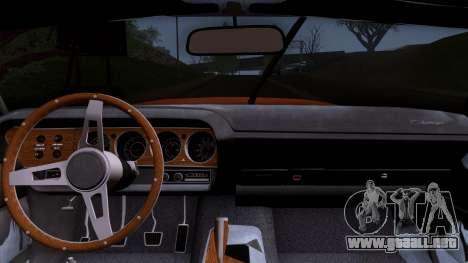 Dodge Challenger 426 Hemi (JS23) 1970 (HQLM) para la visión correcta GTA San Andreas