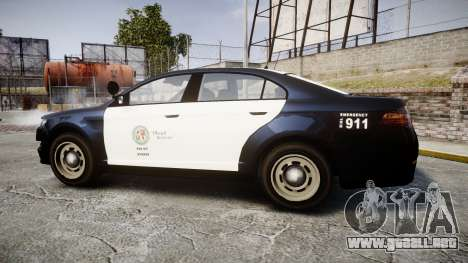 GTA V Vapid Interceptor LSP [ELS] Slicktop para GTA 4 left