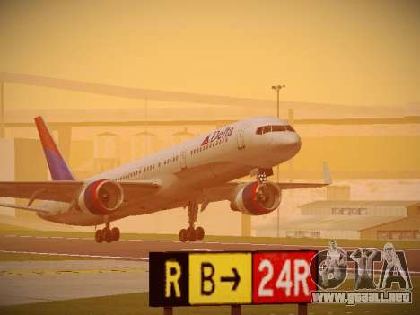 Boeing 757-232 Delta Airlines para GTA San Andreas left