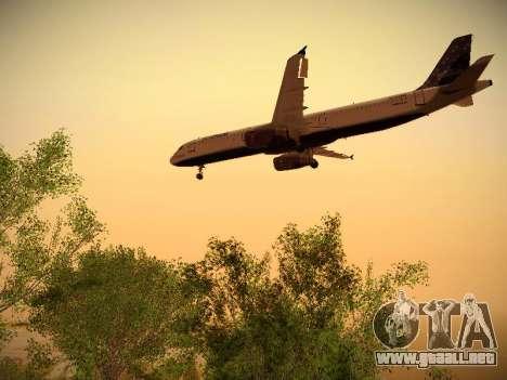 Airbus A321-232 Lets talk about Blue para GTA San Andreas vista hacia atrás