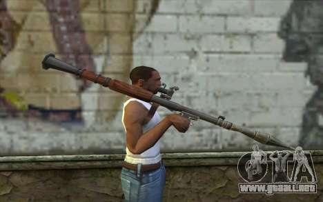РПГ-7В de Battlefield: Vietnam para GTA San Andreas tercera pantalla