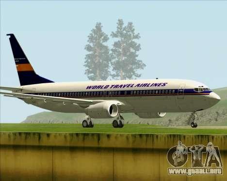 Boeing 737-800 World Travel Airlines (WTA) para la visión correcta GTA San Andreas