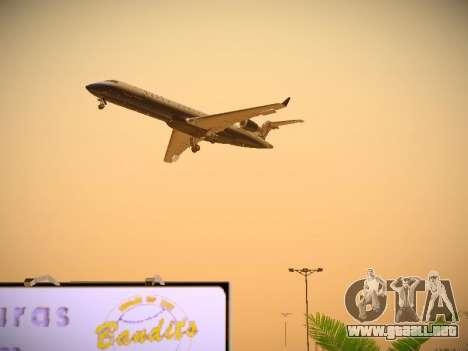 Bombardier CRJ-700 United Express para la vista superior GTA San Andreas