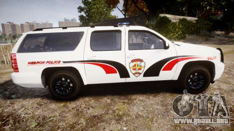 Chevrolet Suburban 2008 Police [ELS] Red & Blue para GTA 4 left