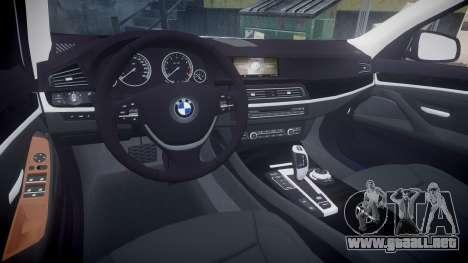 BMW 530d F11 Metropolitan Police [ELS] para GTA 4 vista interior