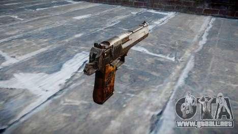 Pistola Desert Eagle Dragón para GTA 4 segundos de pantalla