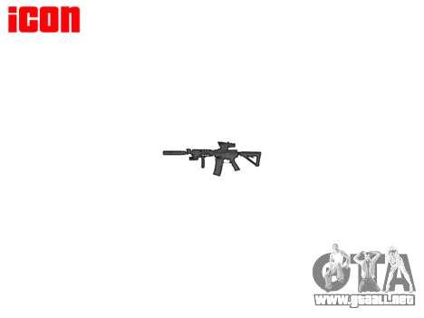 Máquina Táctico M4A1 CQB destino para GTA 4 adelante de pantalla