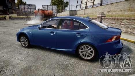 Lexus IS 350 F-Sport 2014 Rims1 para GTA 4 left