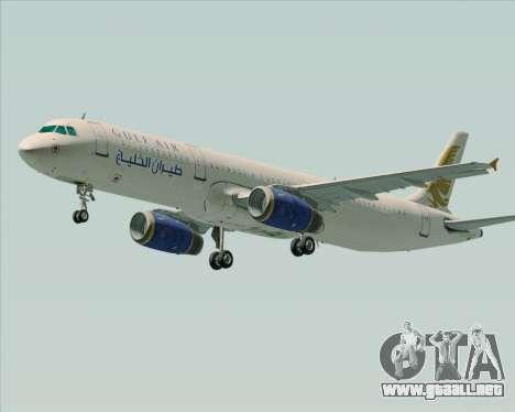 Airbus A321-200 Gulf Air para GTA San Andreas left
