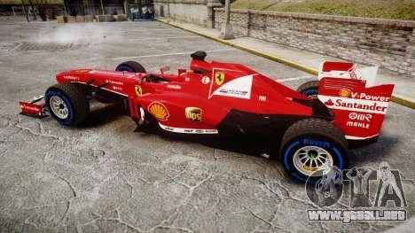 Ferrari F138 v2.0 [RIV] Alonso TFW para GTA 4 left