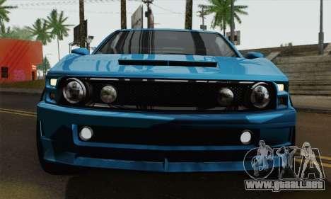 GTA 5 Dominator para GTA San Andreas vista posterior izquierda