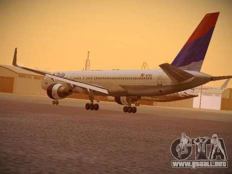 Boeing 757-232 Delta Airlines para GTA San Andreas vista posterior izquierda