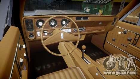 Oldsmobile Vista Cruiser 1972 Rims2 Tree2 para GTA 4 vista hacia atrás