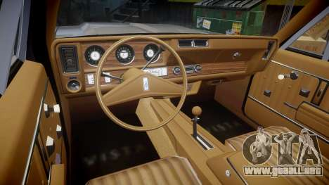 Oldsmobile Vista Cruiser 1972 Rims2 Tree4 para GTA 4 vista hacia atrás