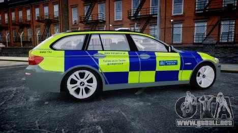 BMW 530d F11 Metropolitan Police [ELS] SEG para GTA 4 left