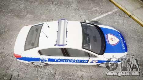 Peugeot 508 Republic of Srpska [ELS] para GTA 4 visión correcta