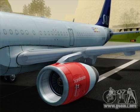 Airbus A321-200 Scandinavian Airlines System para el motor de GTA San Andreas