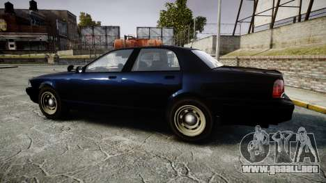 GTA V Vapid Cruiser Police Unmarked [ELS] Slick para GTA 4 left