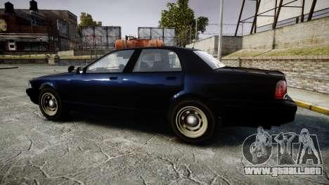 GTA V Vapid Cruiser Police Unmarked [ELS] Slick para GTA 4 left