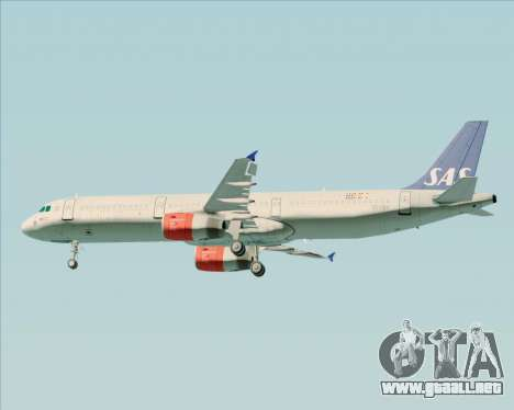 Airbus A321-200 Scandinavian Airlines System para las ruedas de GTA San Andreas